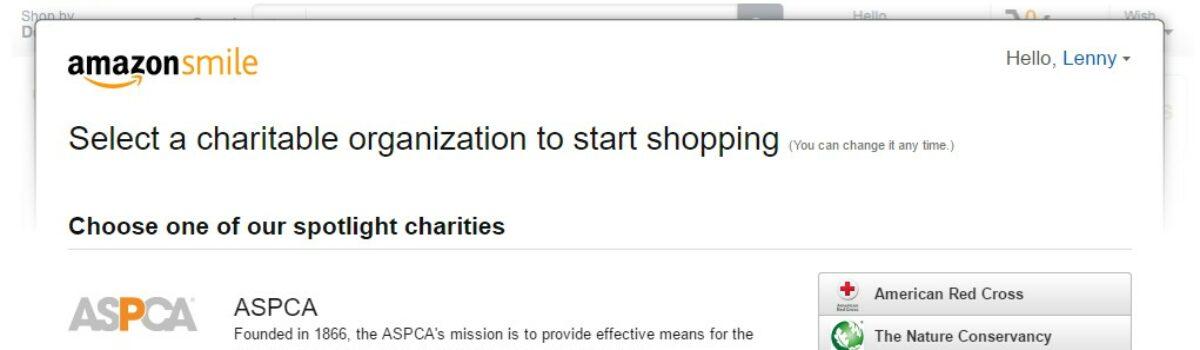 Mua hàng trên AmazonSmile và tài trợ cho hoạt động của VOICE