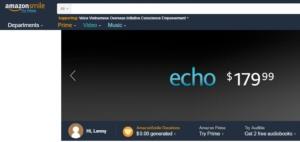 Tài trợ cho VOICE bằng cách mua hàng trên AmazonSmile