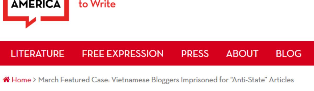 Thư ngỏ quốc tế đòi tự do cho blogger Anh Ba Sàm