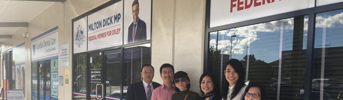 Dinh Nguyen Kha's mother met an Australian politician