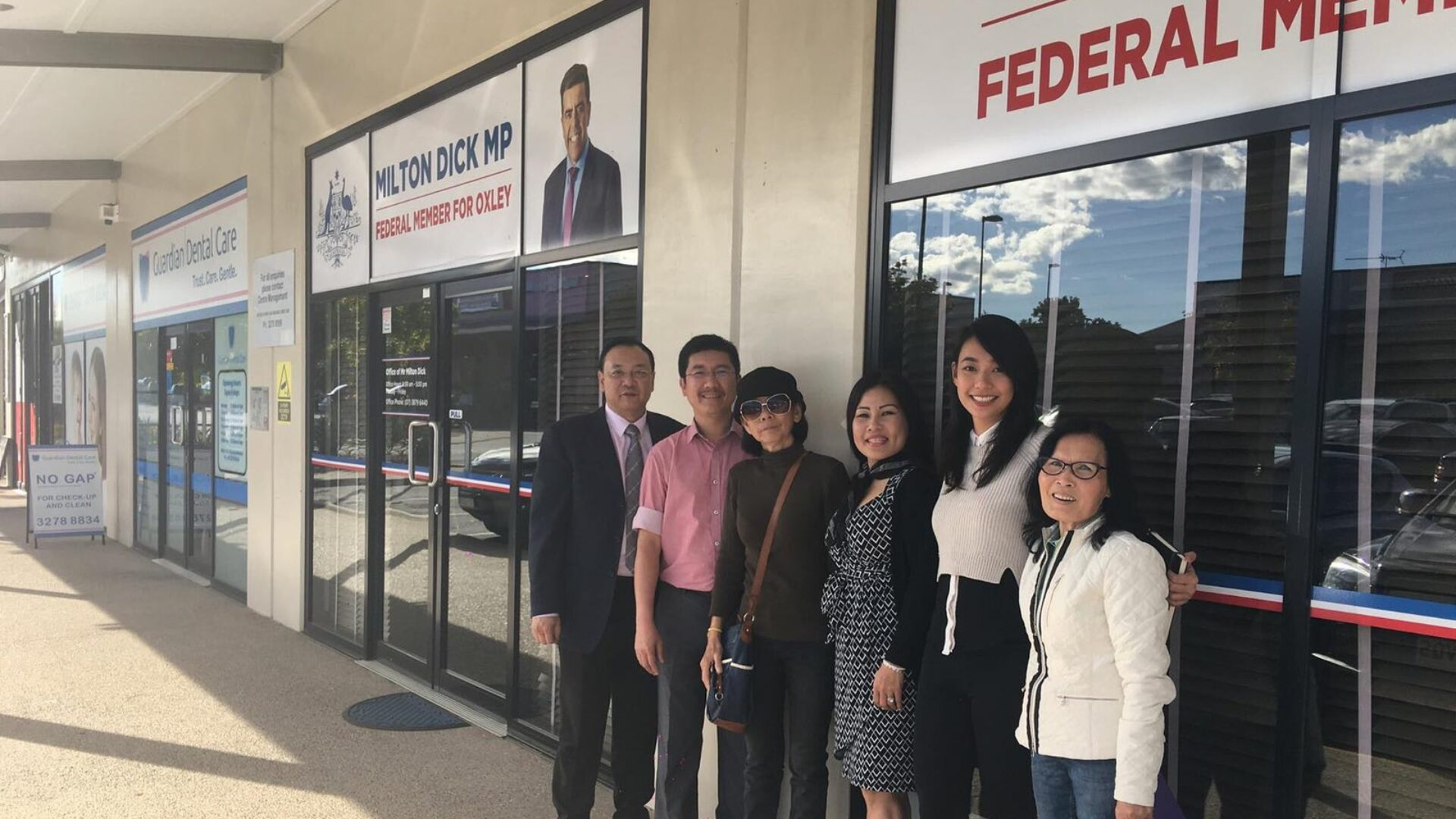 Dinh Nguyen Kha's mother met an Australian politician