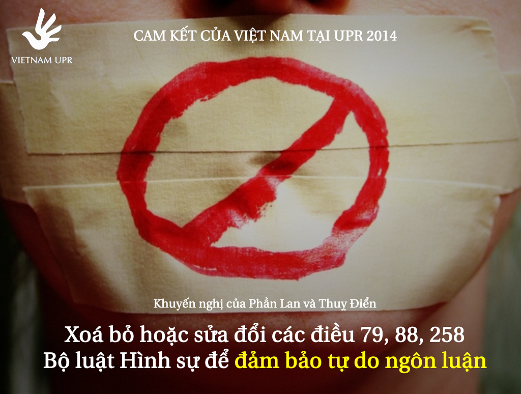 Đảm bảo tự do ngôn luận – Những cam kết của Việt Nam về án tử hình tại UPR 2014 1024 UPR_KN_3