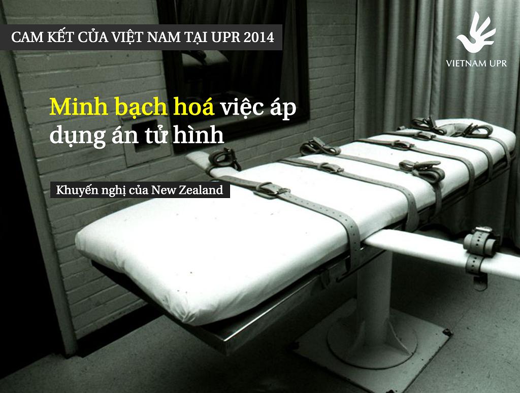 Minh bạch hoá việc sử dụng hình phạt tử hình là một cam kết của Việt Nam trong kỳ kiểm điểm nhân quyền UPR năm 2014 của Liên Hiệp Quốc UPR_KN_2