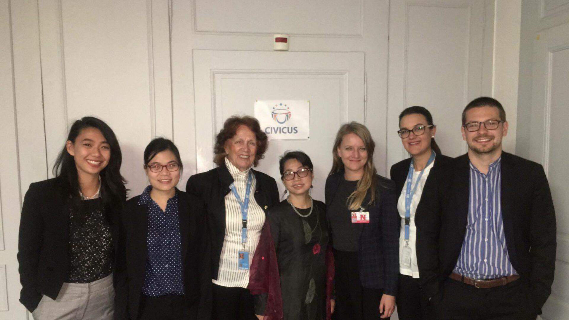 (Tiếng Việt) Phái đoàn vận động nhân quyền UPR 2017 đã tới Geneva, Thụy Sĩ