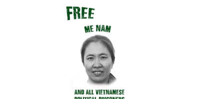 Civil Rights Defenders: One Year After Arrest, Demand for Release of Vietnamese Human Rights Defender Me Nam
