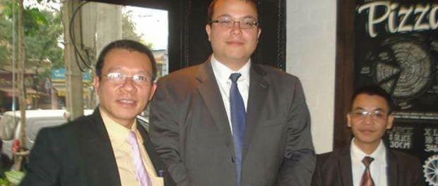 vu-quang-thuan-and-nguyen-van-dien-with-ame-political-officer - VIETNAM VOICE