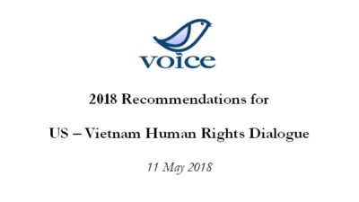 2018 Recommendations for US – Vietnam Human Rights Dialogue