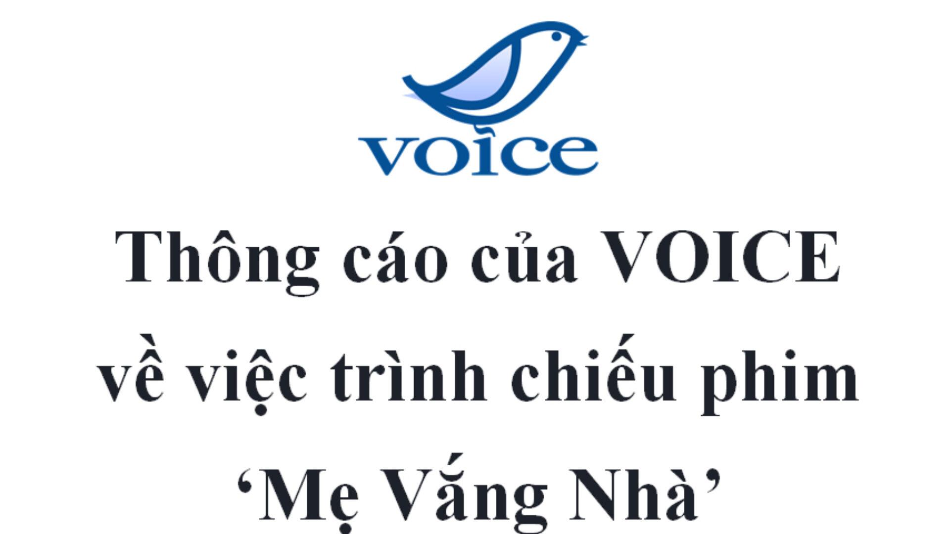 Thông cáo của VOICE về việc trình chiếu phim 'Mẹ Vắng Nhà'