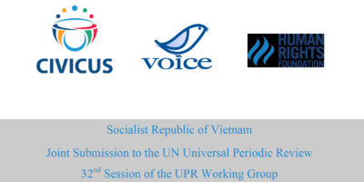 VOICE in conjunction with other NGOs submitted contributions to the Universal Periodic Review