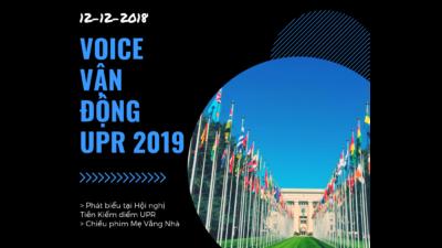 VOICE vận động nhân quyền tại UPR 2019