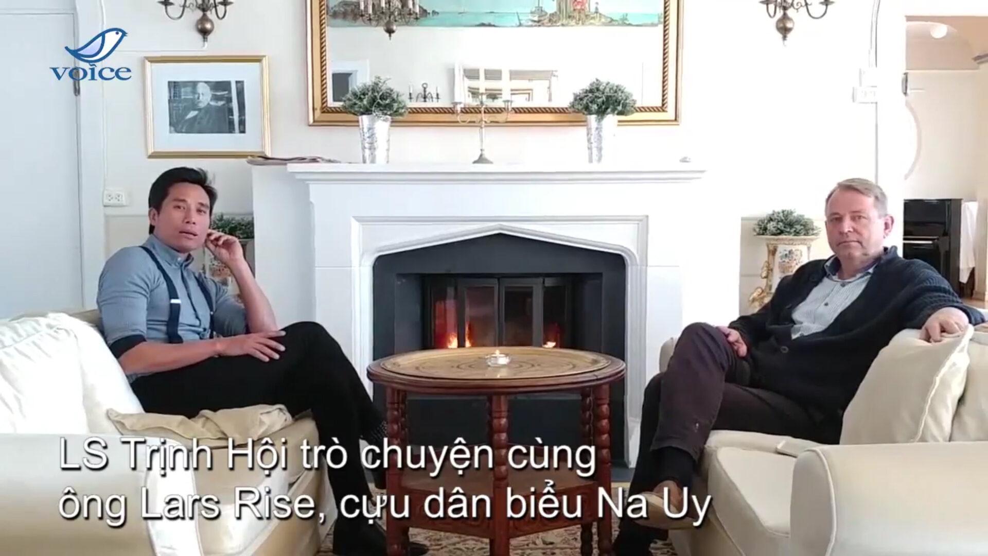 Luật Sư Trịnh Hội trao đổi với ông Lars Rise, cựu dân biểu Na Uy về tình hình Xã hội dân sự Việt Nam
