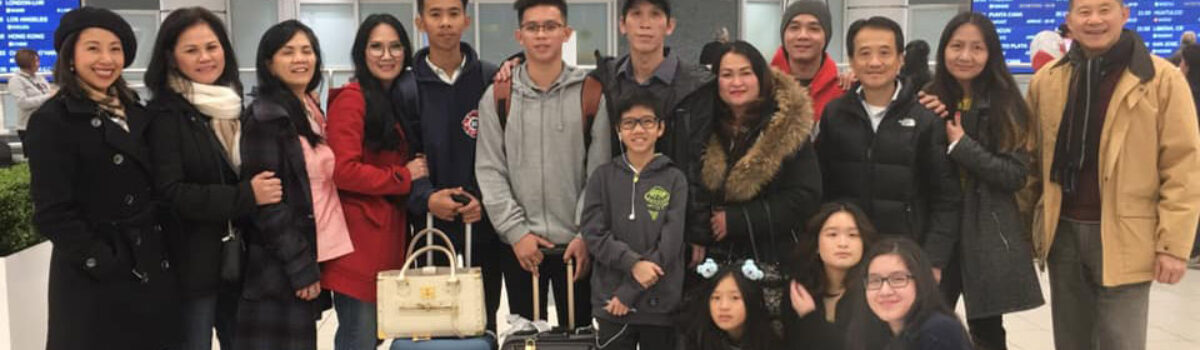 Thêm một gia đình người Việt tị nạn được đoàn tụ tại Canada