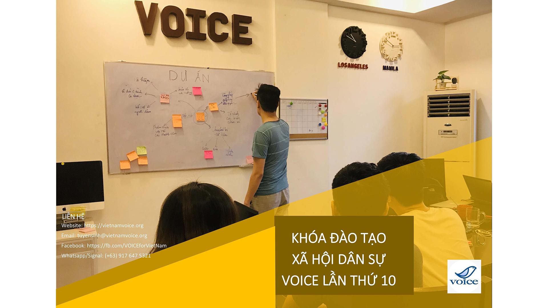 Nội dung Khóa Đào tạo Xã hội Dân sự VOICE