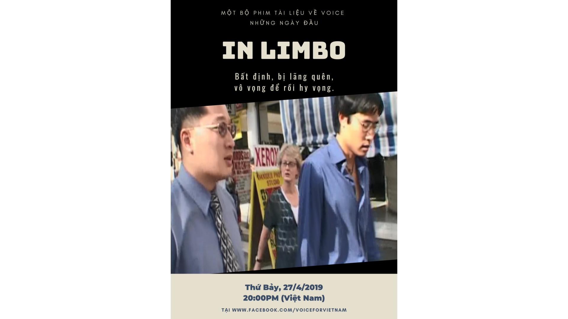 Bộ phim tài liệu 'In Limbo' sẽ được trình chiếu trên Facebook của VOICE
