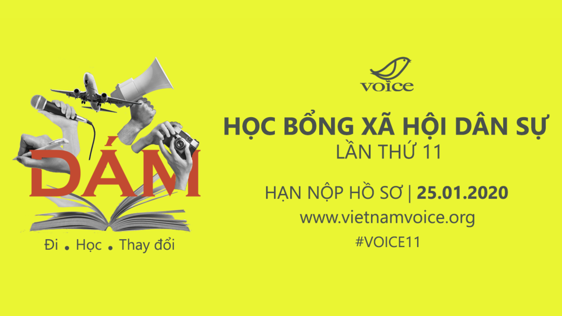(Tiếng Việt) Học bổng Xã hội Dân sự VOICE lần thứ 11